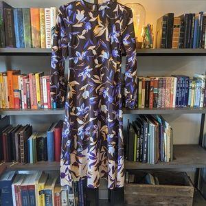 Long Sleeve Empire Waist Midi Dress